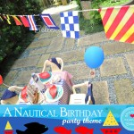 Nautical bunting with signs and symbols.