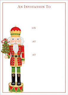 Nutcracker fill-in invitation by Caspari on Amazon