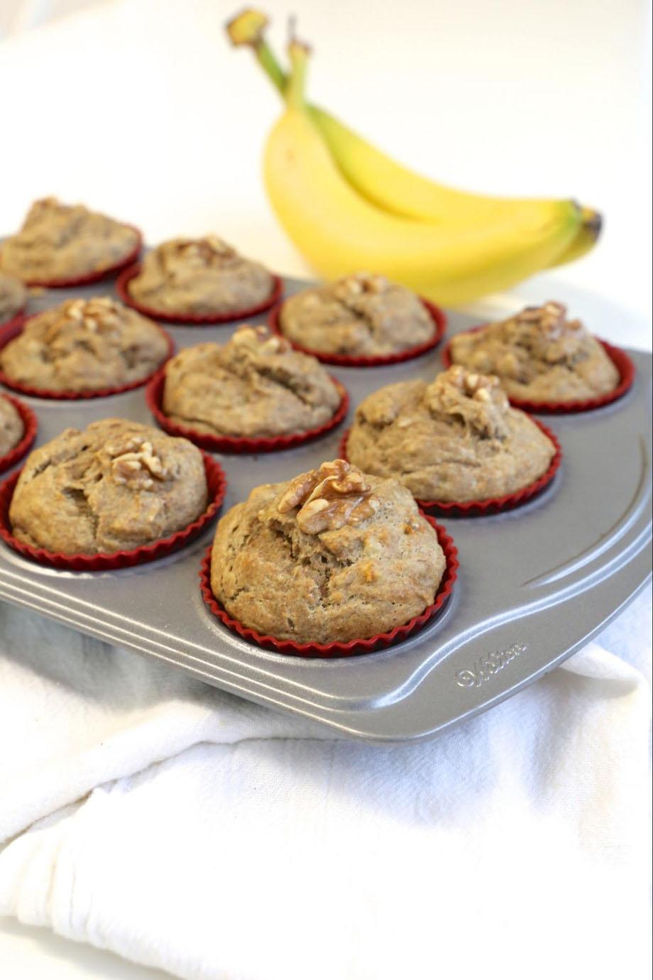 No Sugar Added Banana Muffins