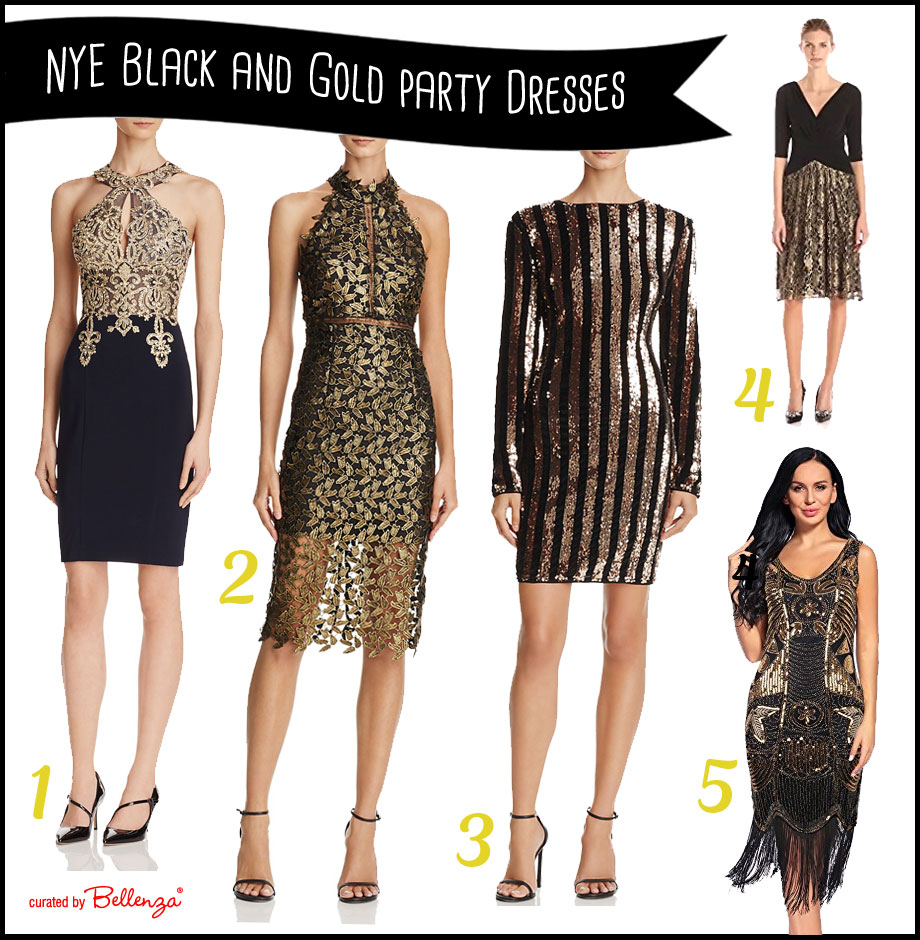 10 Glam Black and Gold Dresses to Ring in the New Year in Style!