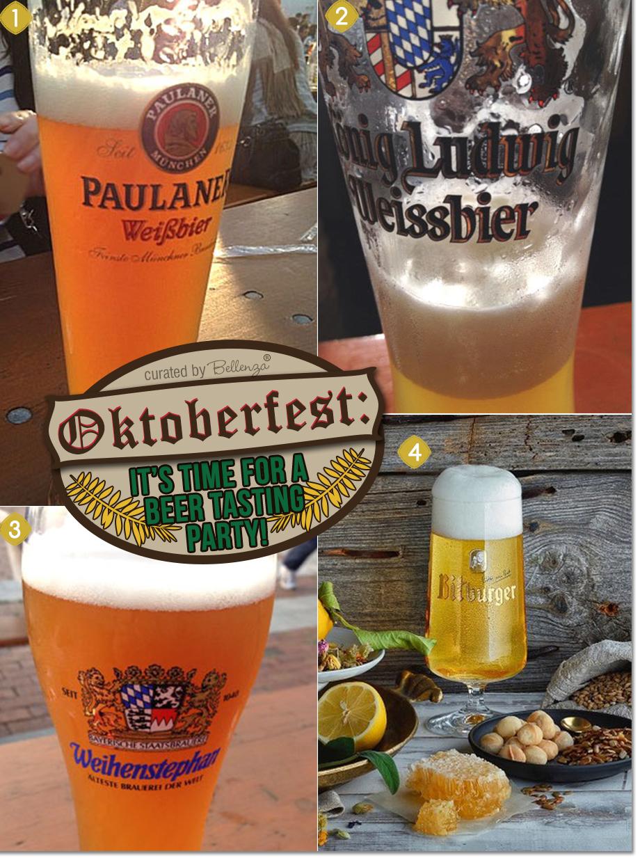 Oktoberfest beers: Paulaner Hefe-Weissbier Naturtrüb, Ludwig Weissbier, Weihenstephan, and Bitburger