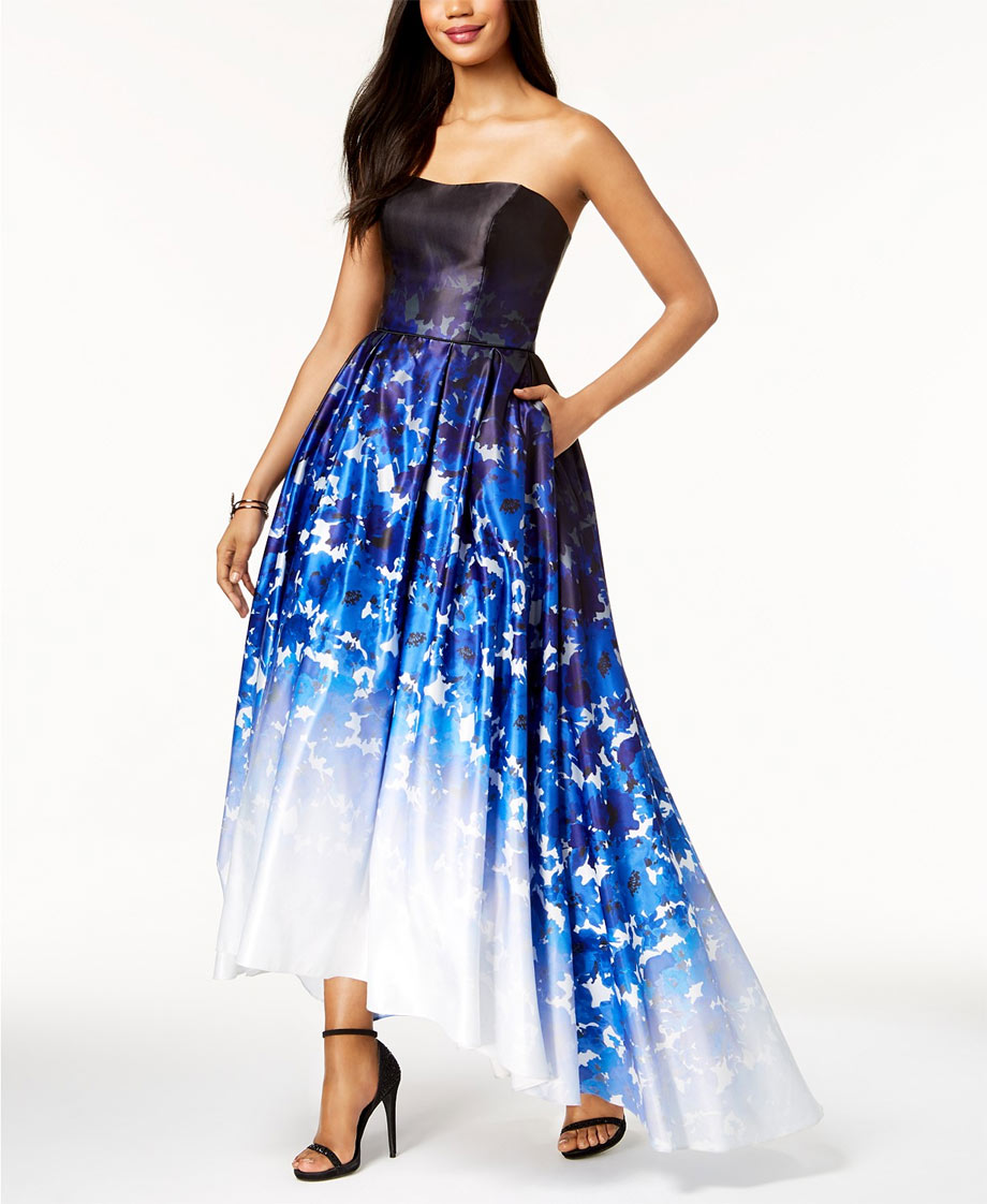 Ombre blue sweet 16 gown
