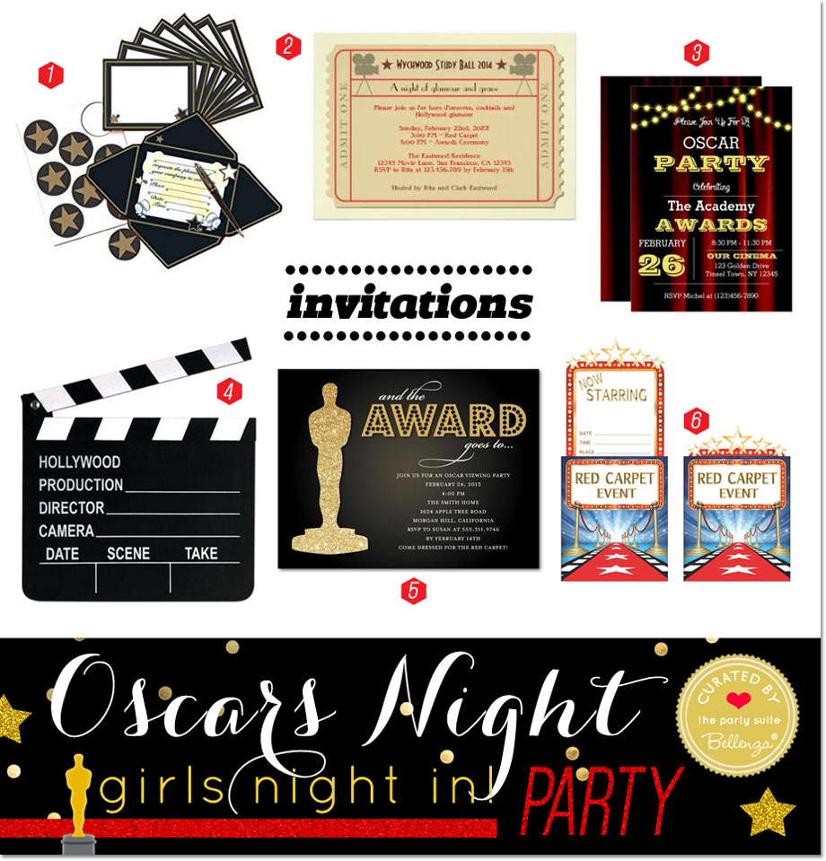 Oscars Viewing Party Theme for a Girls Night in // Curated by Bellenza.