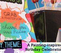 Painting or Art Themed Party Styled Shoot by Bellenza.
