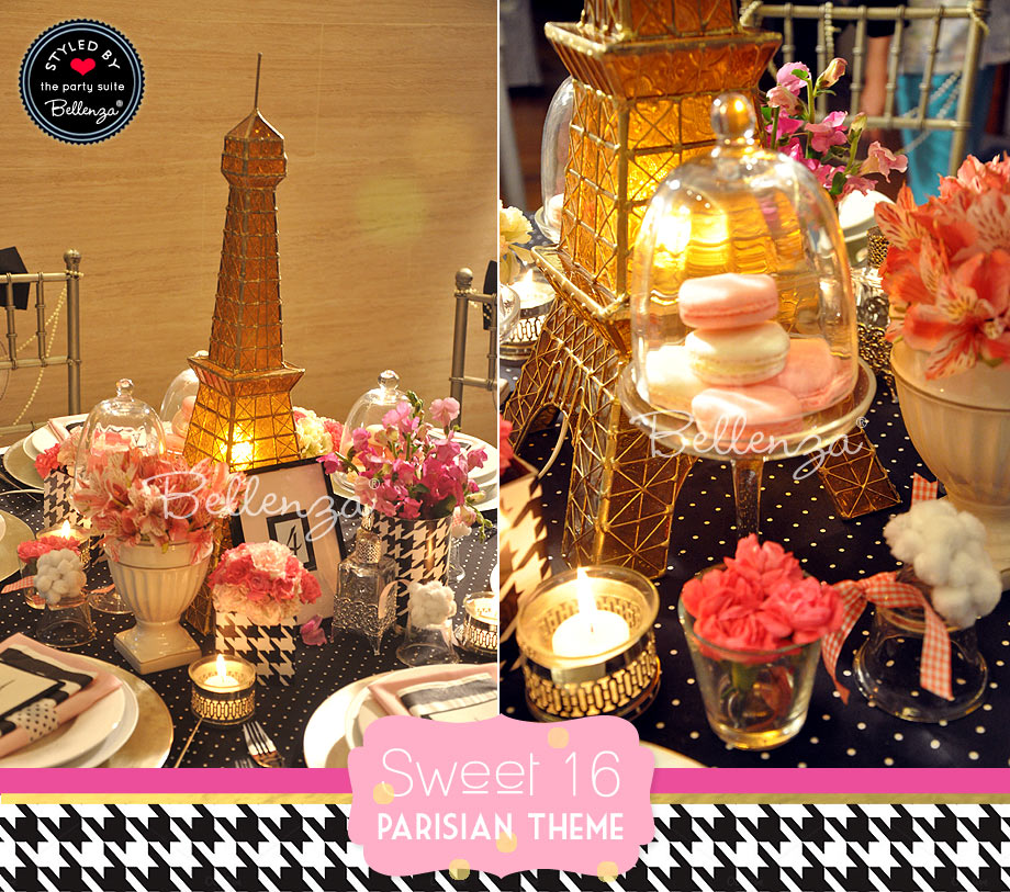 Parisian decor sweet 16 // styled by Bellenza