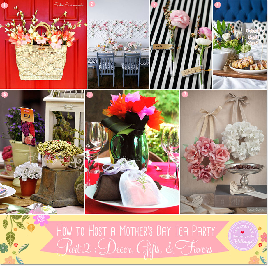Table decorations for planning a Mother's Day tea party | The Party Suite at Bellenza