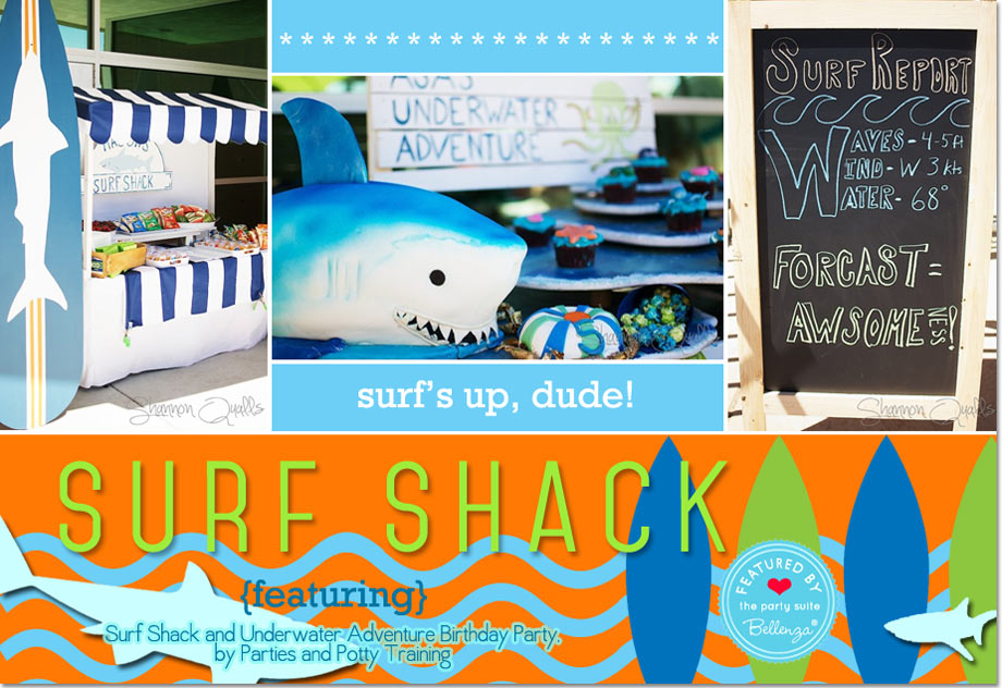Surf Shack and Underwater Adventure Birthday Party by Parties and Potty Training
