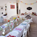 Party Tablescape for Vintage Sweet 16. Photo by Where My Heart Is