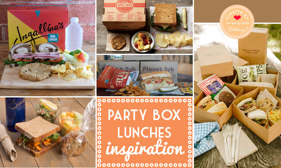Boxed lunches for spa parties