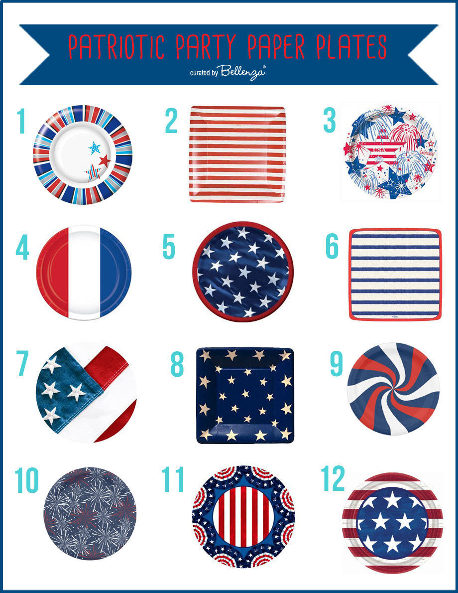 Patriotic Paper Plates for July 4th Picnic