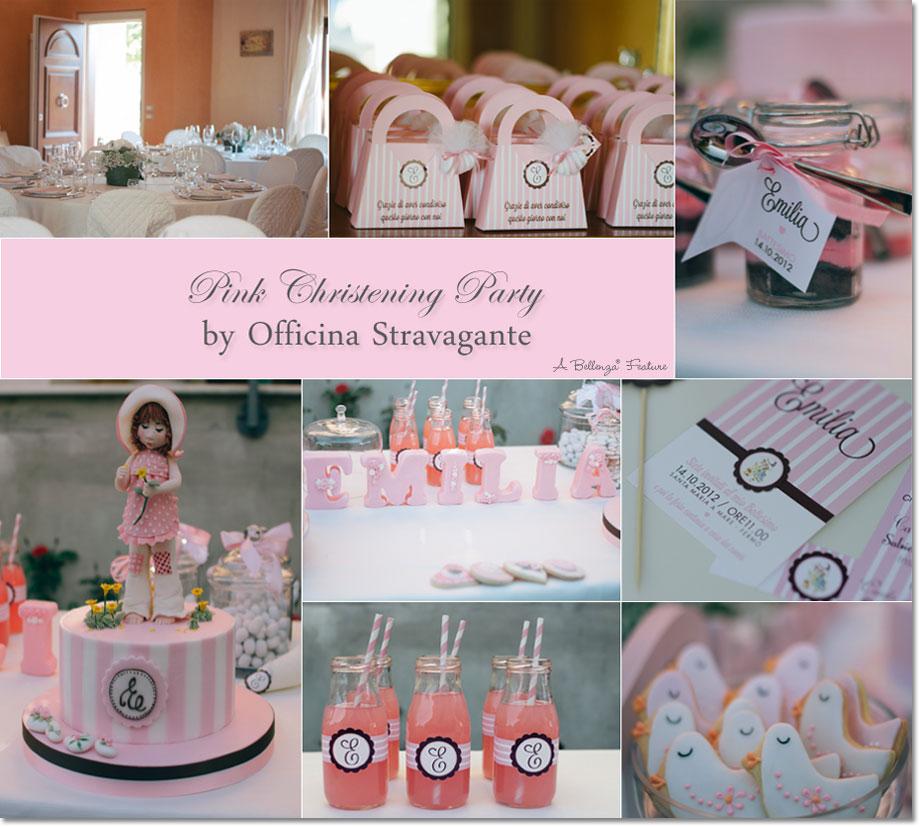 Pink baptism party. Photo: Officina Stravagante