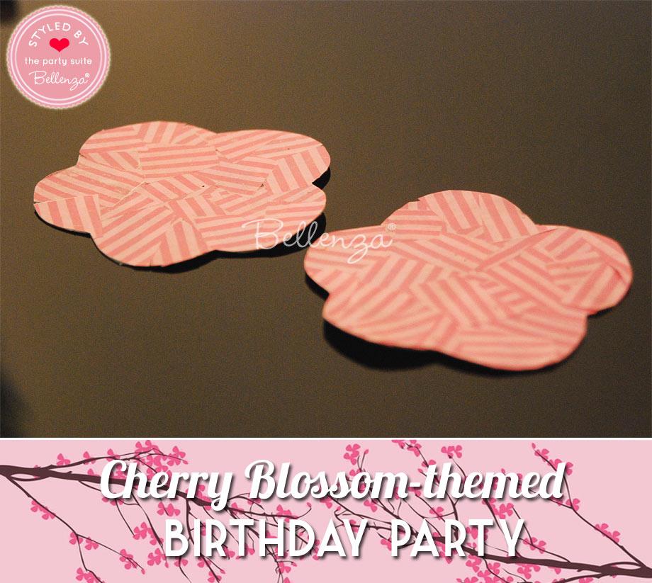 Pink sakura coasters for Cherry Blossom birthday