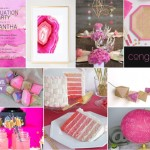 Pink and Gold Glam Graduation Party Ideas in Glitter and Geometrics