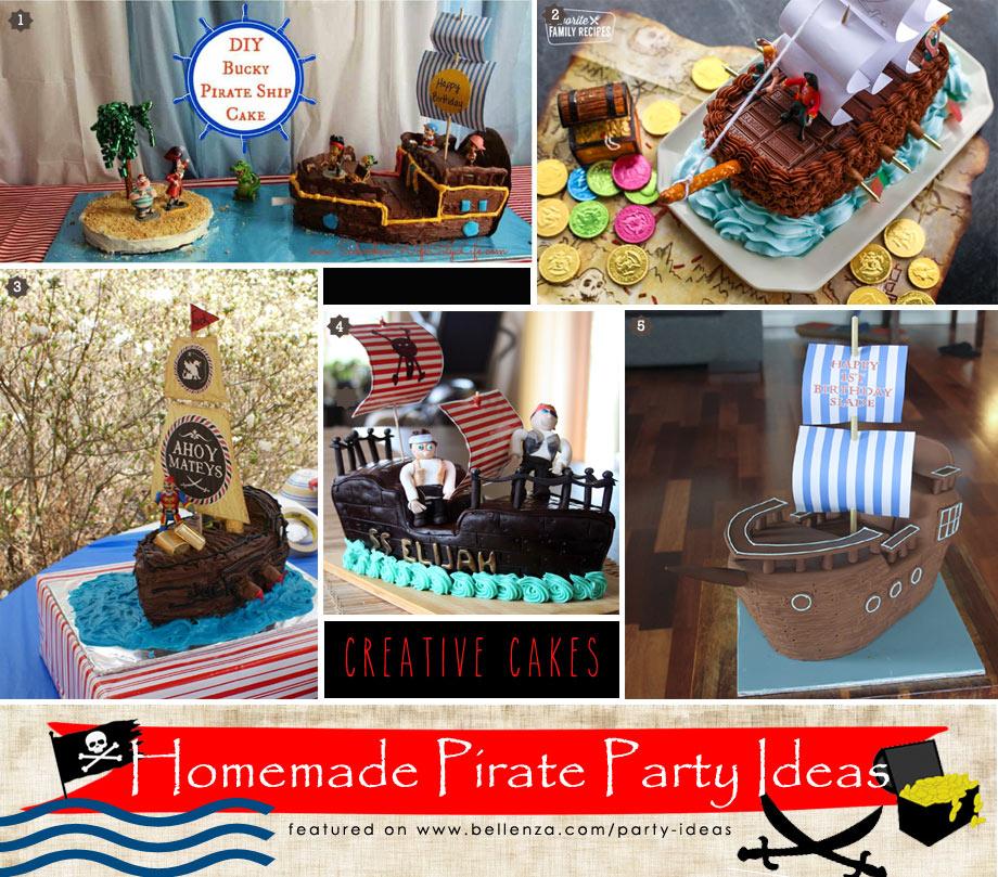 Pirate themed birthday cake tutorials