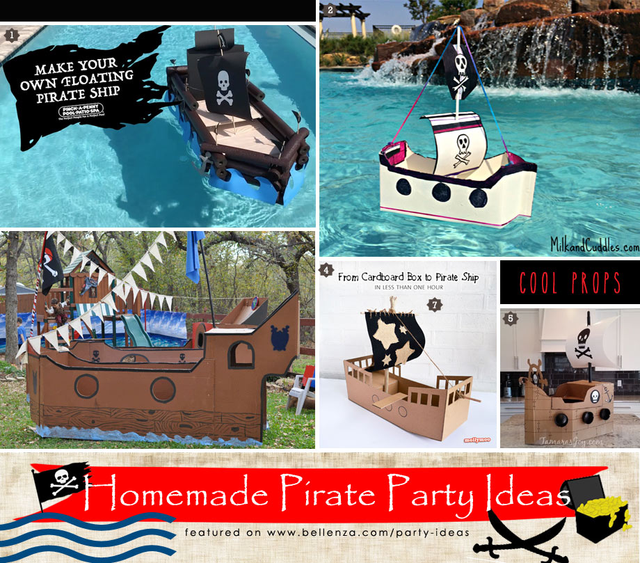 Homemade Pirate Party Ideas for Backyard to Pool