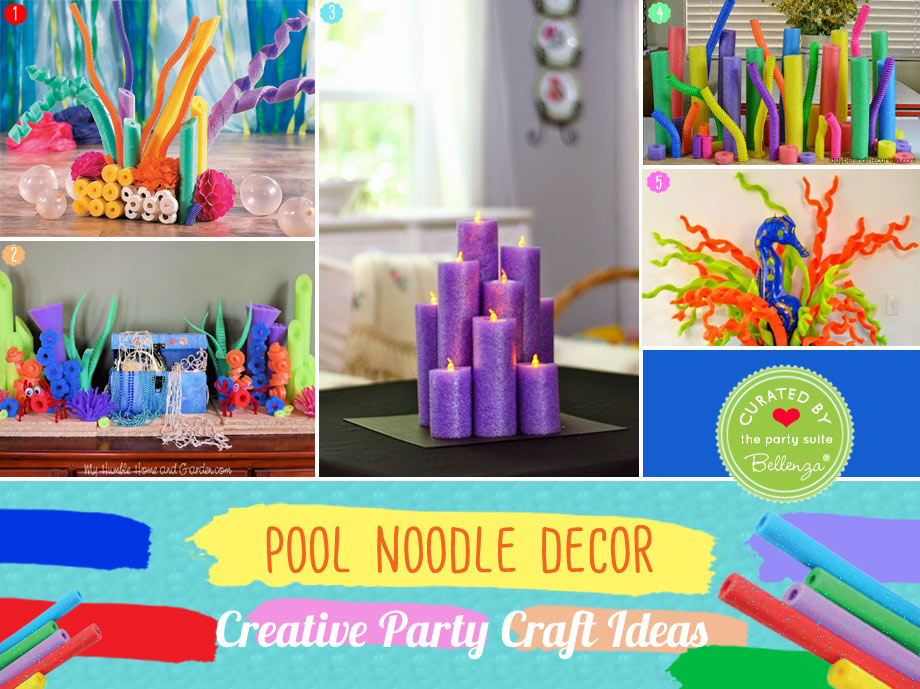Creative Pool Noodle Party Decorations with Coral Reef to Centerpieces