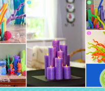 Pool noodle party crafts and decorations like fish and