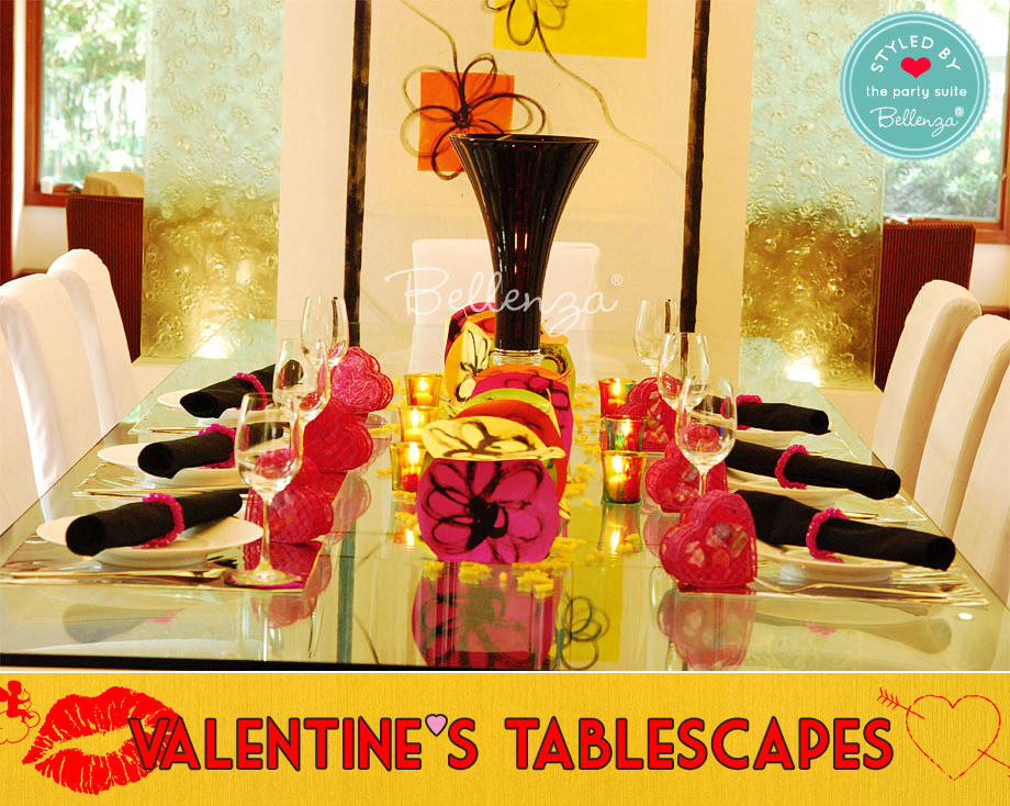 Modern Art Style Tablescape with Pops of Hot Pink