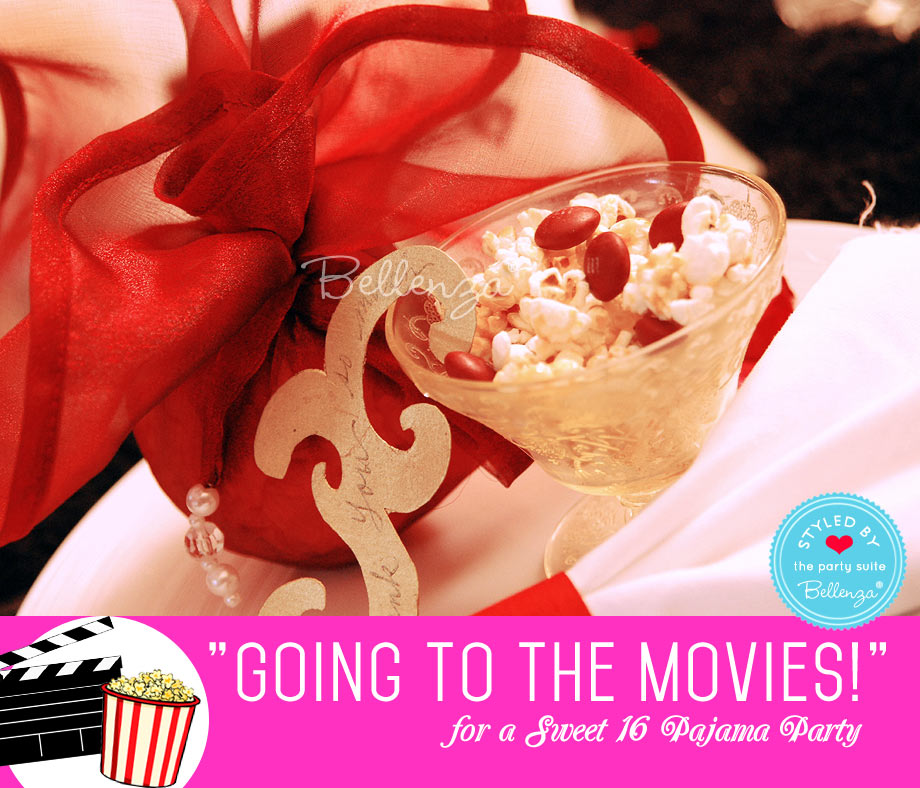 Sweet 16 Sleepover Party Popcorn Favors