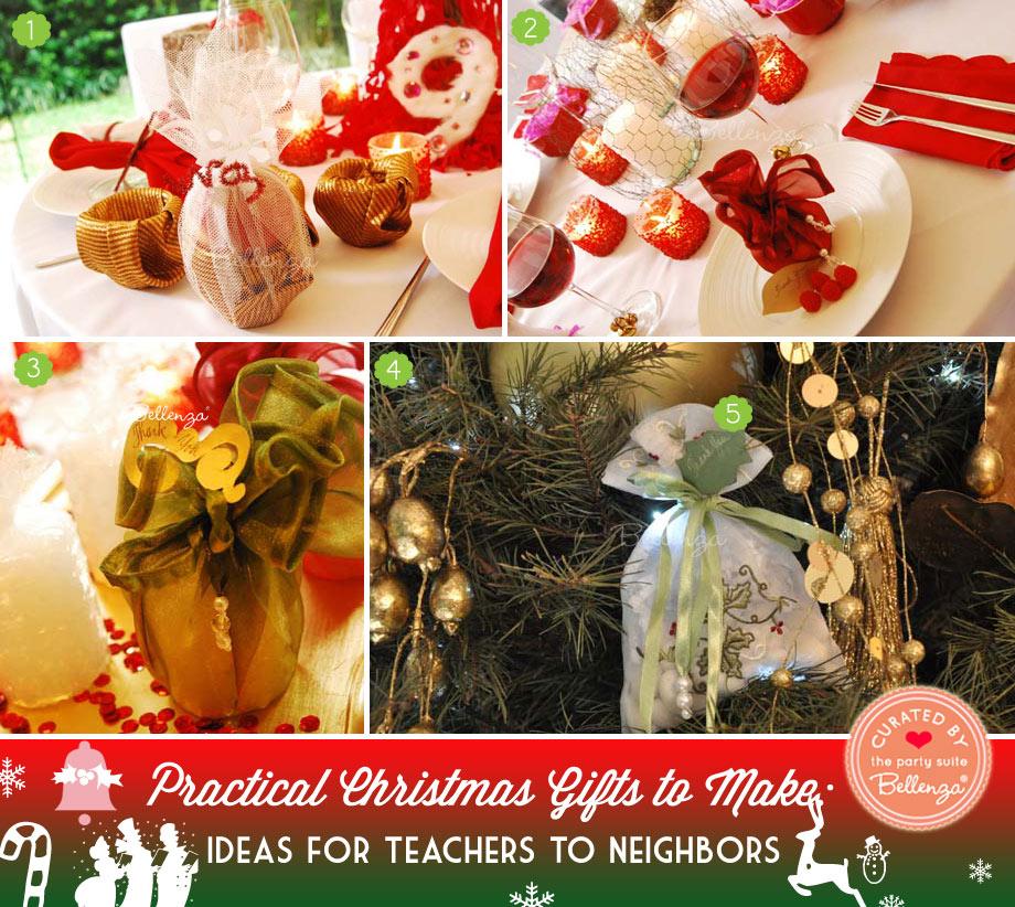 Practical Christmas Gifts to Make for Teachers to Neighbors