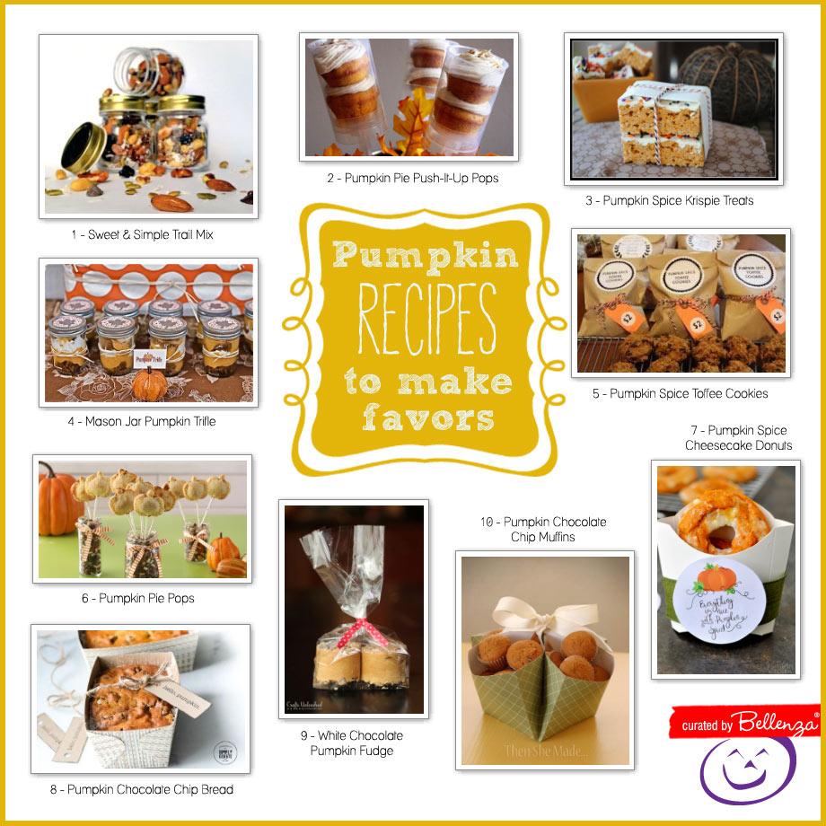 Pumpkin favors to make from yummy recipes.