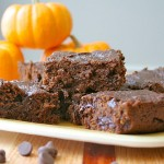 Pumpkin fudge brownies by The Baker Mama
