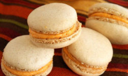 Pumpkin macarons via The Marvelous Misadventures of a Foodie