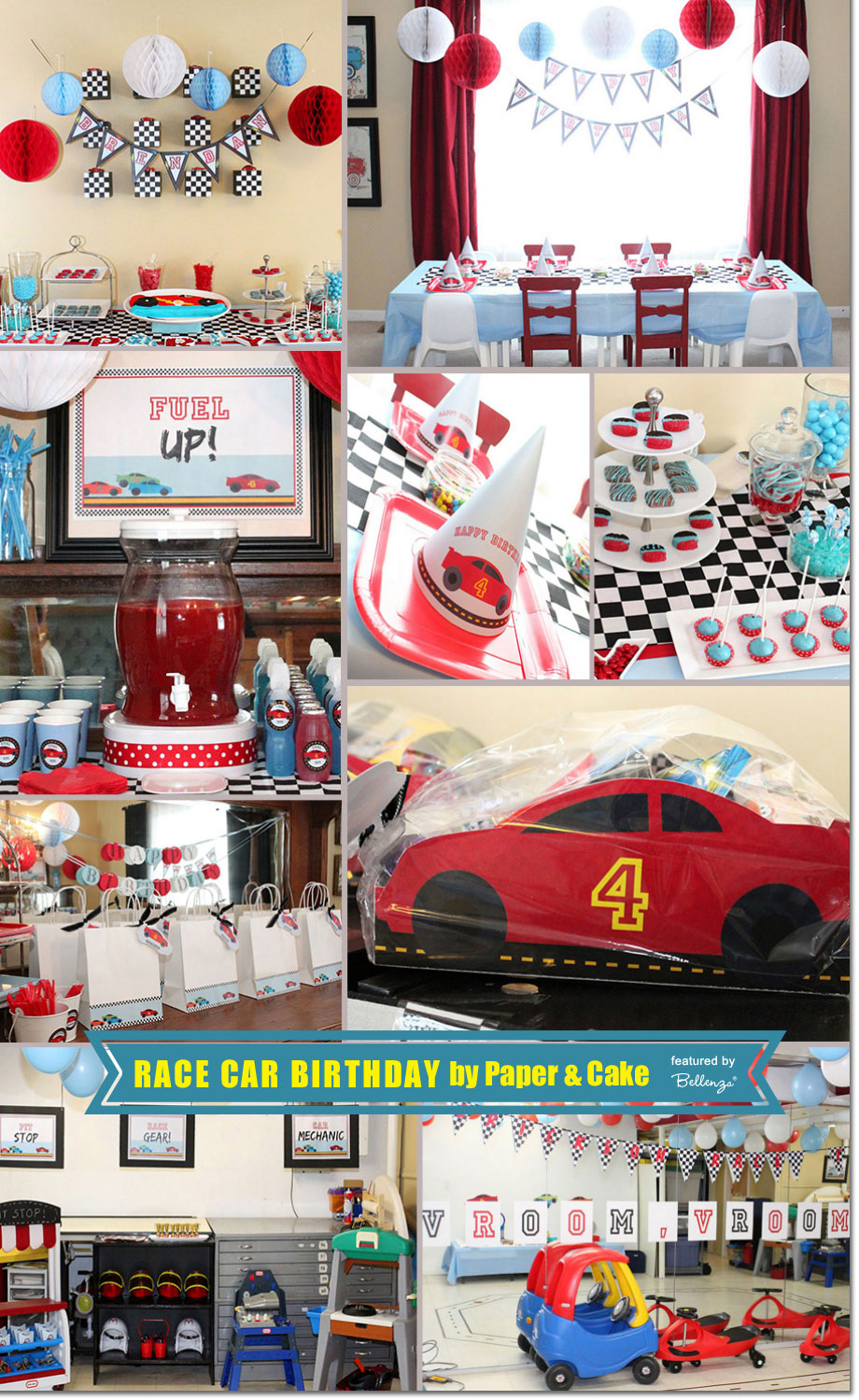 Race Car Birthday, from Paper and Cake