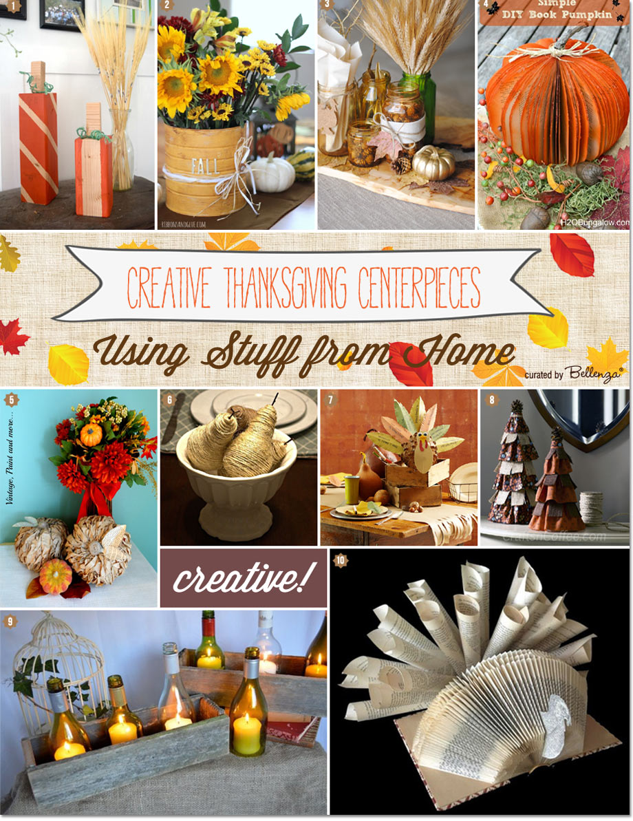 Thanksgiving table decorations using items from home