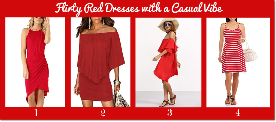 Flirty Red Dresses with a Casual Vibe