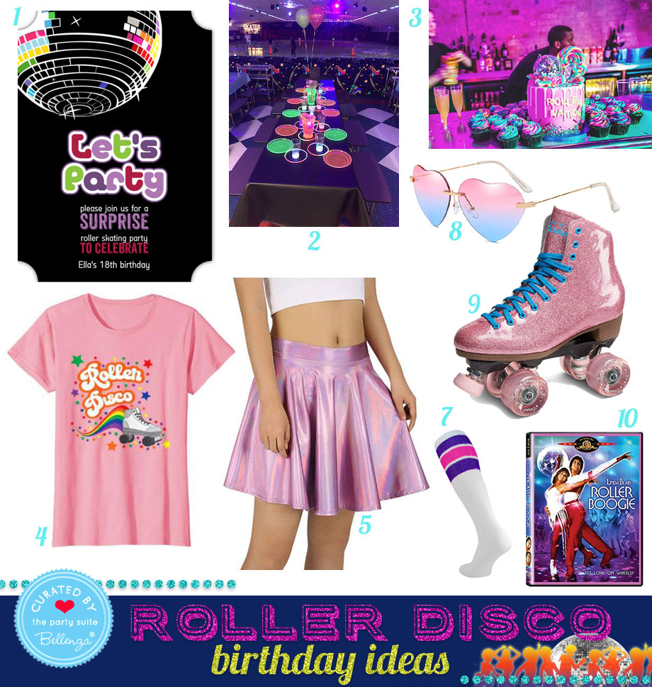 Disco Roller Skating 18th Birthday Party Ideas