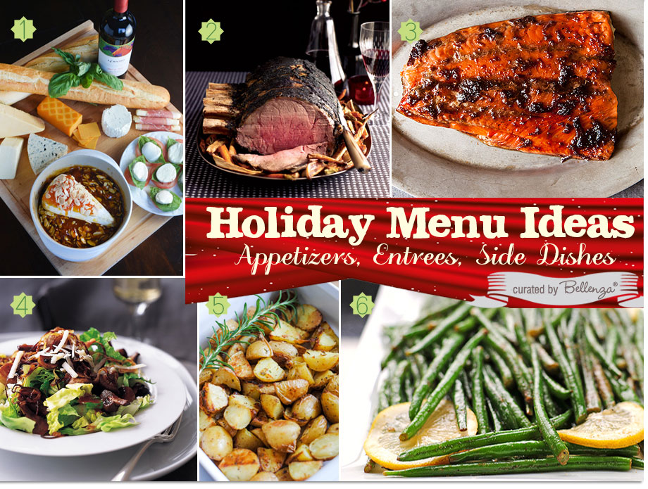 Rustic Christmas Menu with Prime Rib, Soy Glazed Salmon, Lemon Rosemary Potatoes for an Elegant Dinner Party.