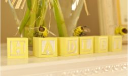 ABC Blocks in Yellow. Photo courtesy of Rustic White Photography