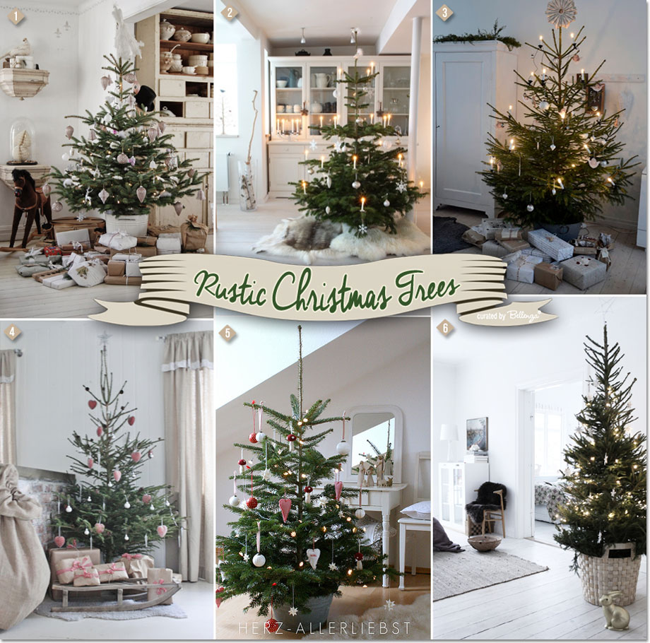 Rustic Christmas Trees with a Scandinavian and German Inspiration