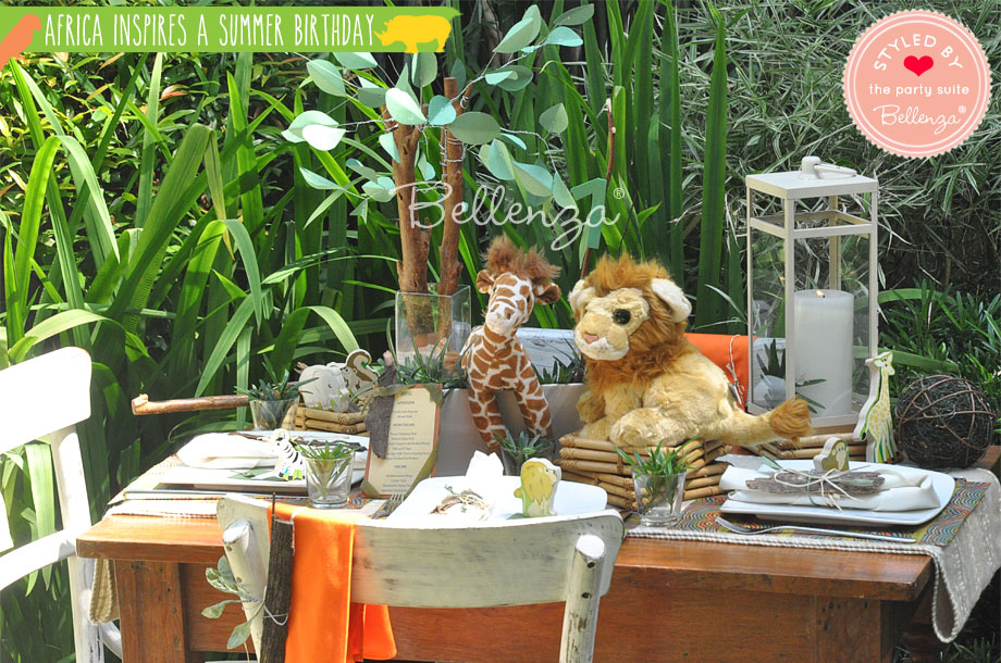 African birthday party tablescape and decorations