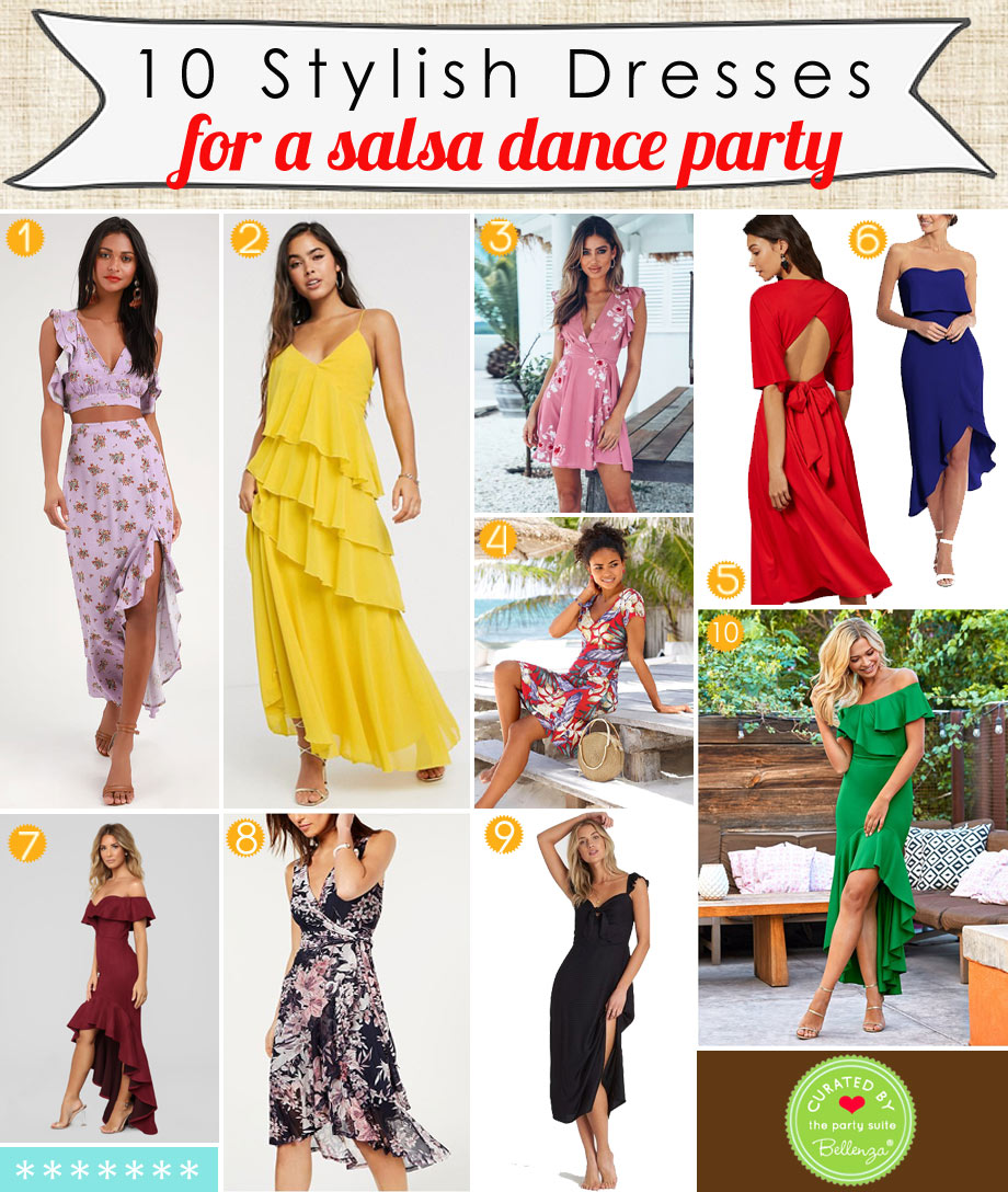 Alluring Dresses that Move to That Salsa Beat