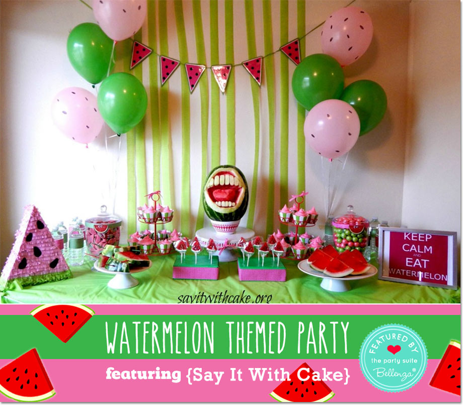 End of Summer Watermelon Party Featuring Say It With Cake