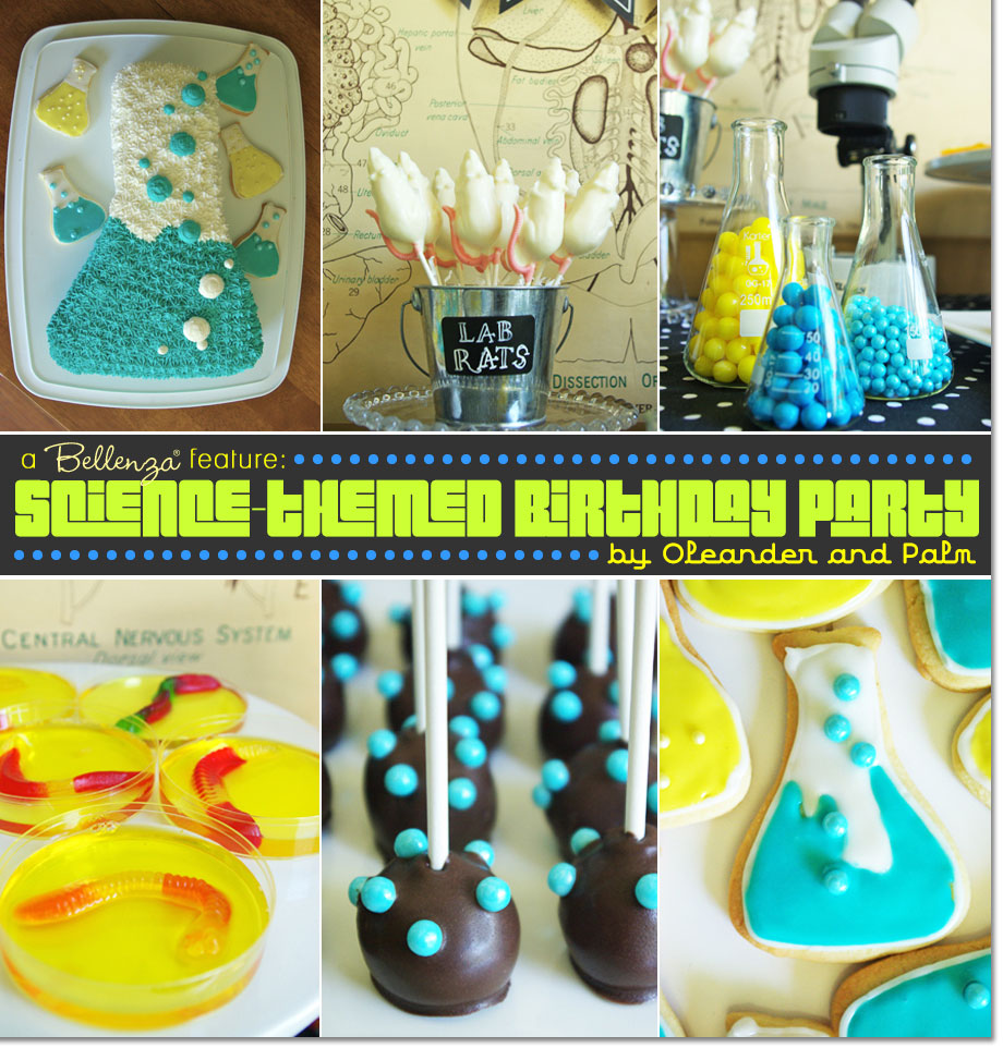 Science themed boy's birthday party favors by Oleander and Palm | Featured on the Party Suite at Bellenza