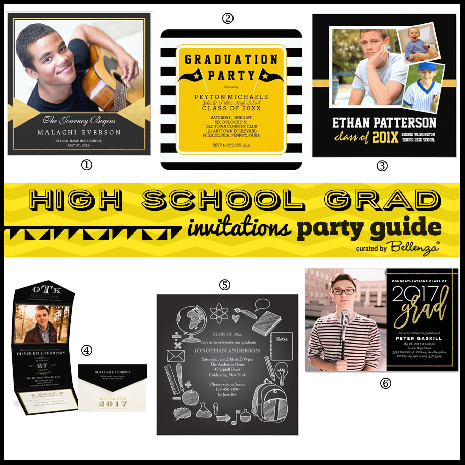 Graduation Party Invitations // Planning Guide by Bellenza.