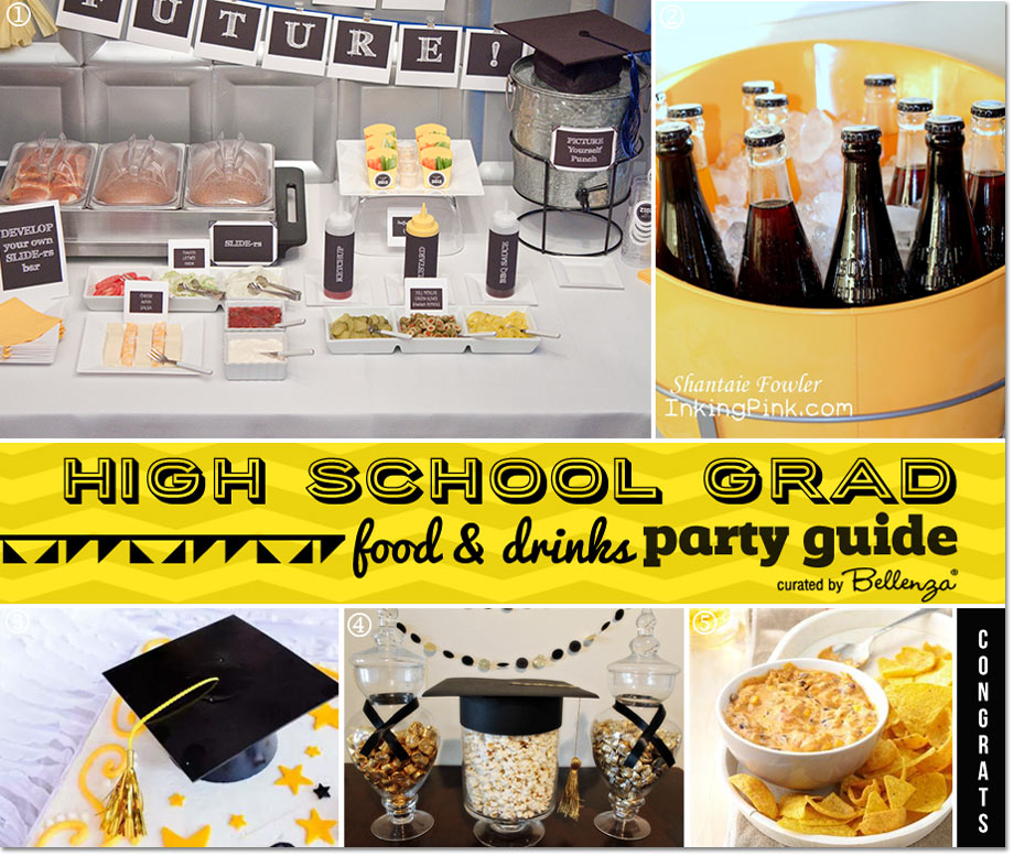 Food & Drinks for the Grad and Guests // Planning Guide by Bellenza.