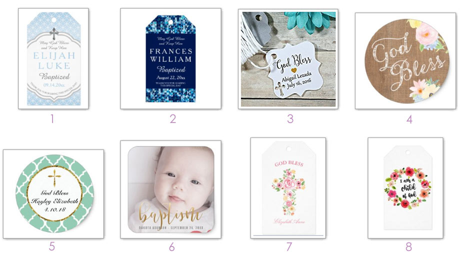 """""""Blessing"""" Baptism Tags + Stickers"""