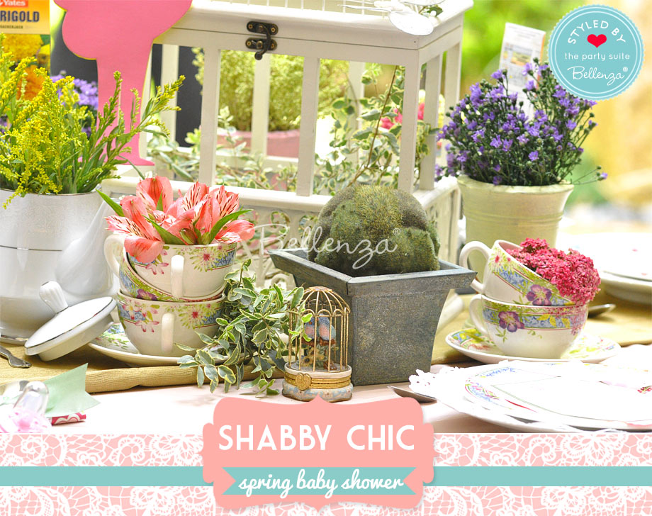 shabby chic spring table centerpieces