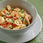 Greek shrimpt pasta. Photo by Cooking Weekends