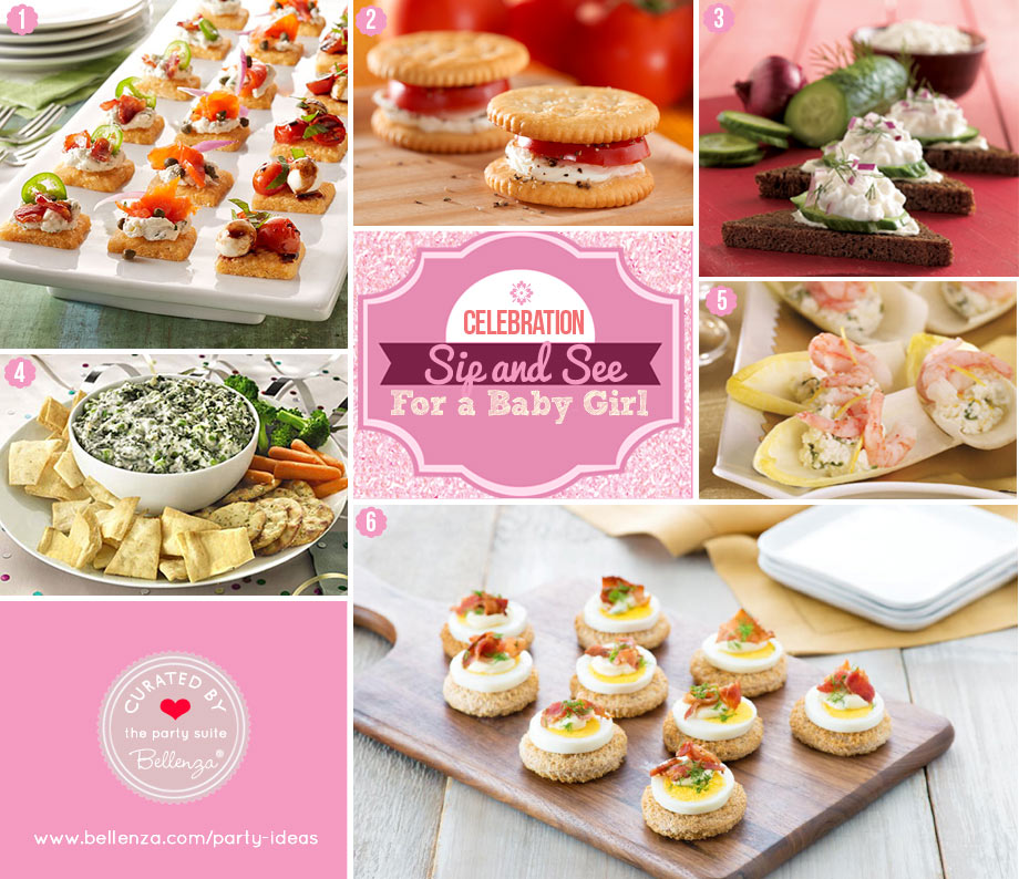 Sip and See Baby Girl Party Food Appetizers