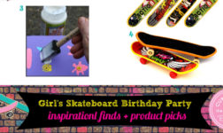 Skateboard Birthday Party Ideas for a Pre-teen Girl!