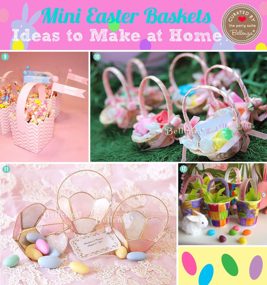 Cute  Mini Easter Baskets to Make