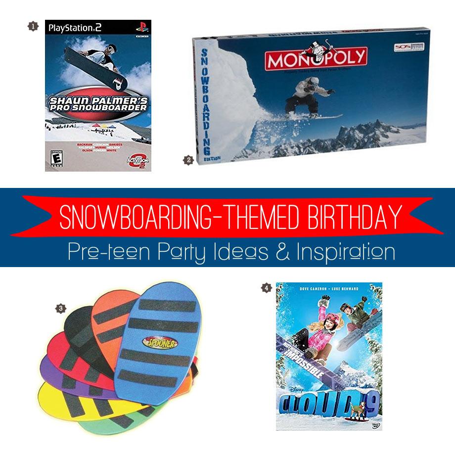 Snowboard Party Activities