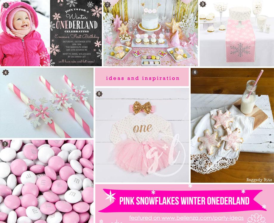Pink Winter Onederland Birthday Party