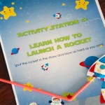 Space themed invitations for kids. Photo by I Will Invitations.