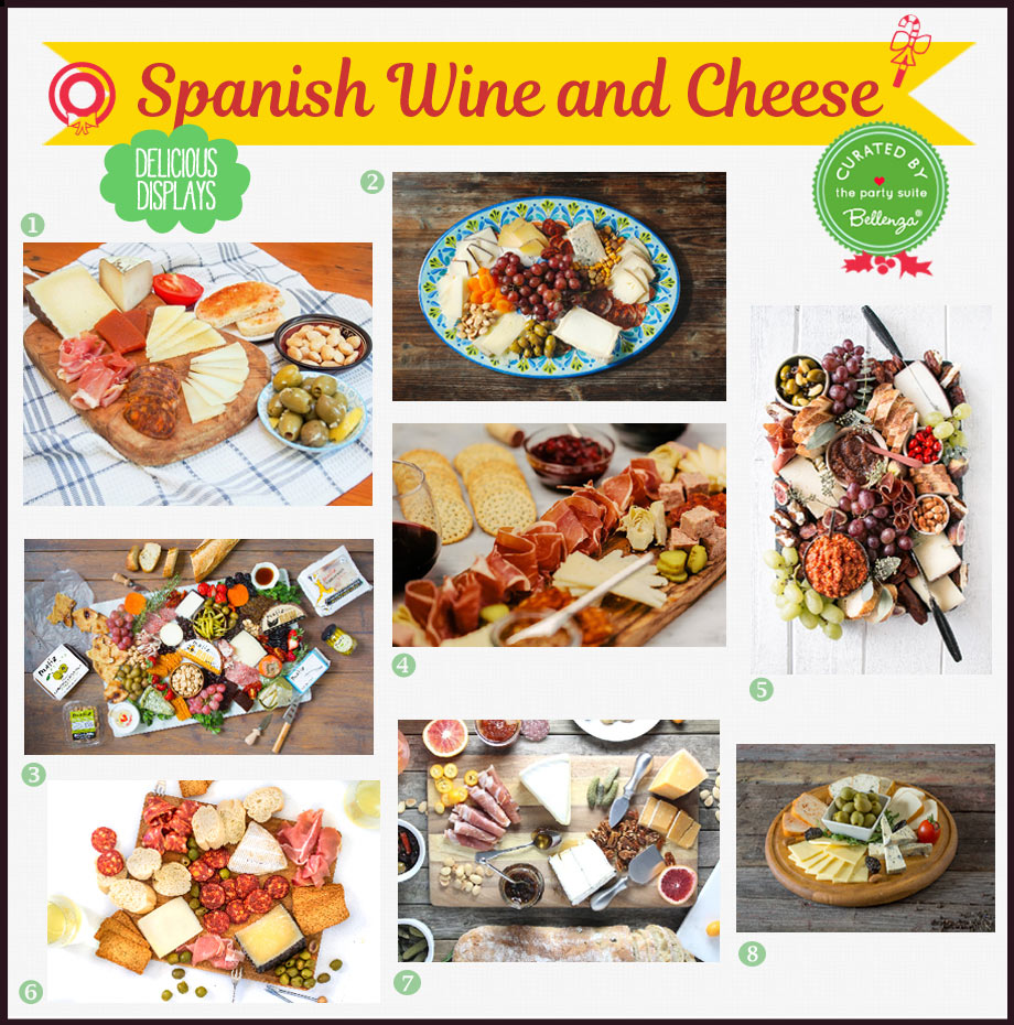 Spanish cheese and meat boards
